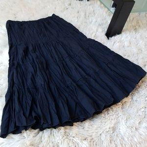 Bebe Boho Style Midi Skirt